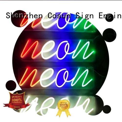 COSUN Latest custom made neon lights manufacturers