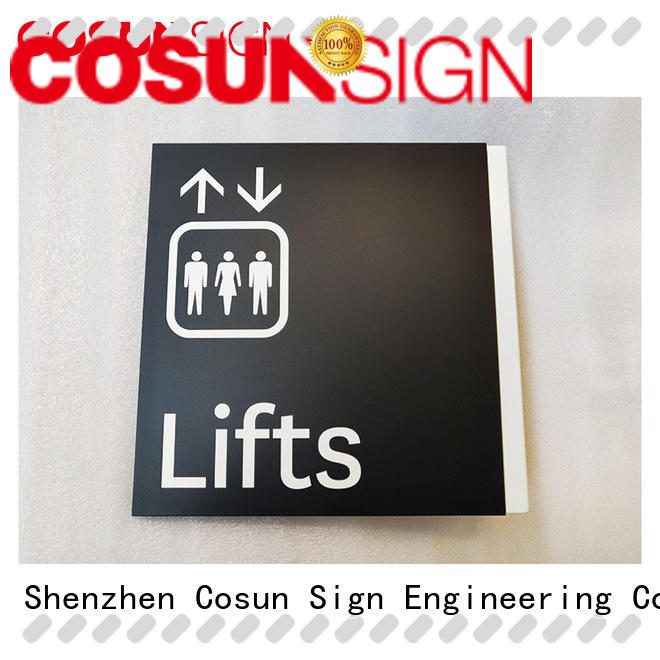 COSUN led house name plaques laser cutting for toilet signage