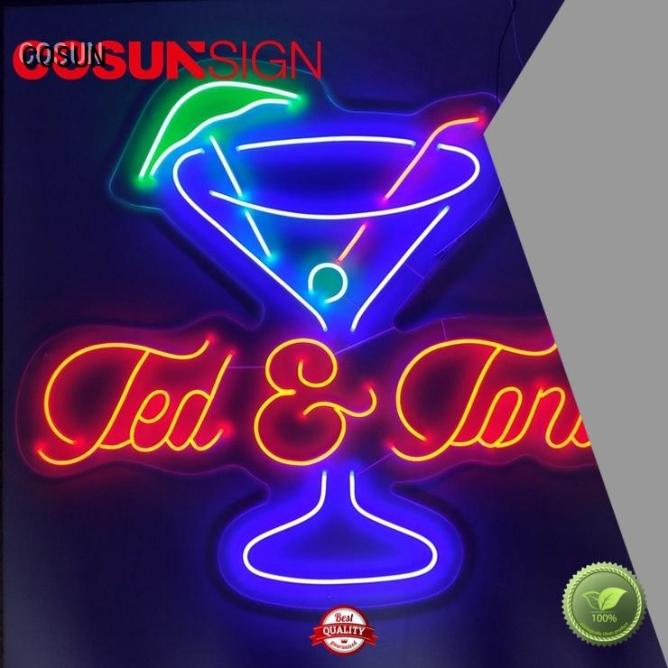 COSUN popular neon display manufacturers for house