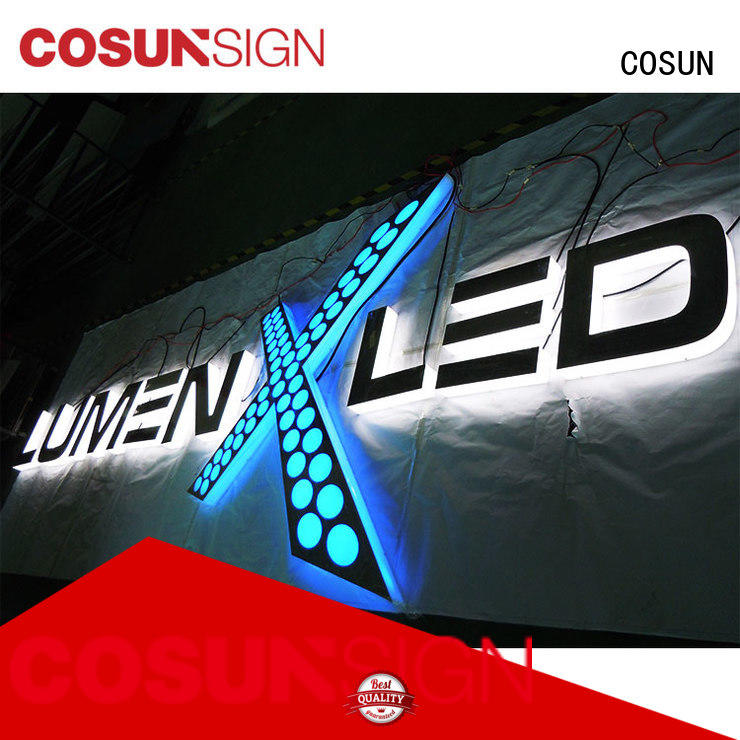 COSUN led base acrylic sign block factory inquire now