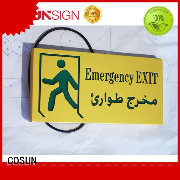 COSUN cnc aluminum brass door sign illuminated for bar