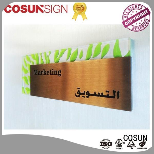 COSUN High-quality front door family name signs Suppliers for shop