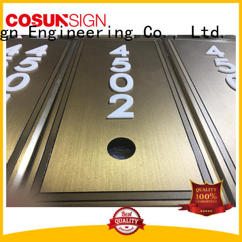 painted hotel room number plates illuminated for bar COSUN