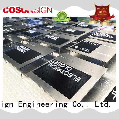 COSUN High-quality custom engraved signs for business house decoration