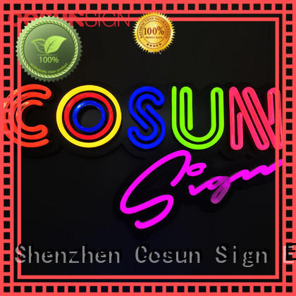 COSUN best factory price china neon sign wholesale for promotion