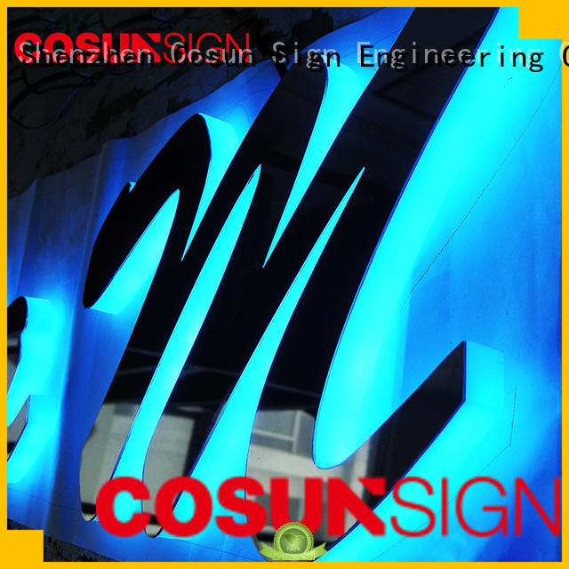 COSUN led base custom acrylic wall signs for business for pub club