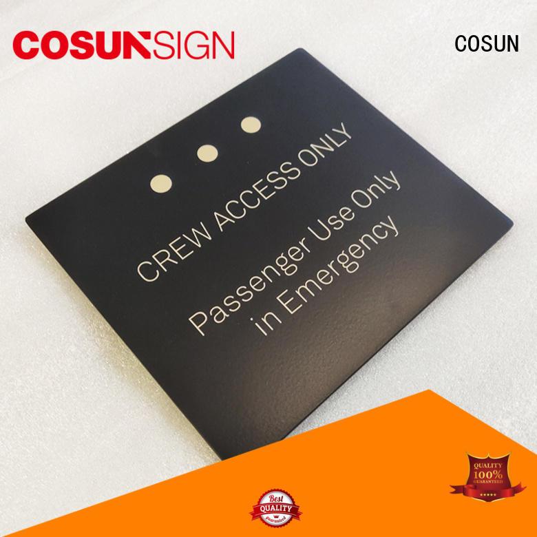 COSUN cnc aluminum custom office door sign illuminated for toilet signage