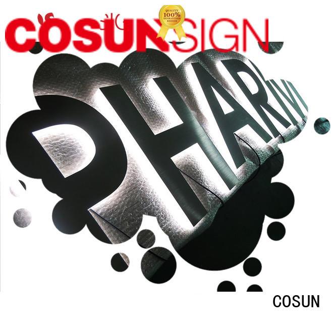 COSUN cheapest price sandblasting acrylic signs for pub club