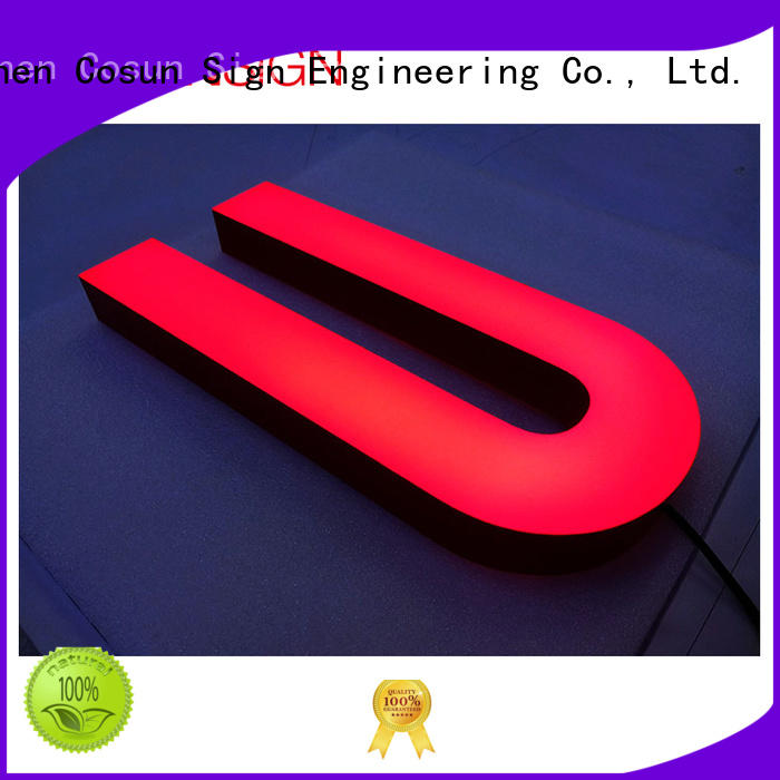Latest clear acrylic sign cheapest price for shop