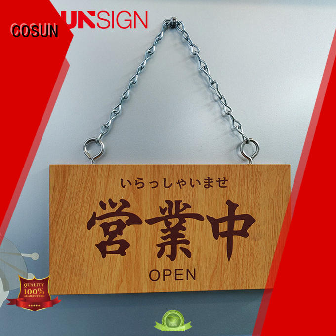 Top out of office door sign logo custom factory for wholesale