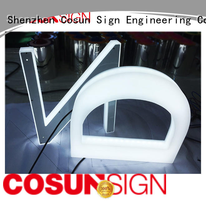 COSUN Wholesale plastic wall sign holders for pub club