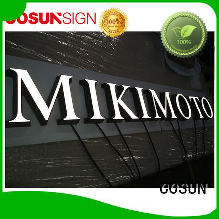 COSUN high-quality illuminati sign manufacturers for restaurant