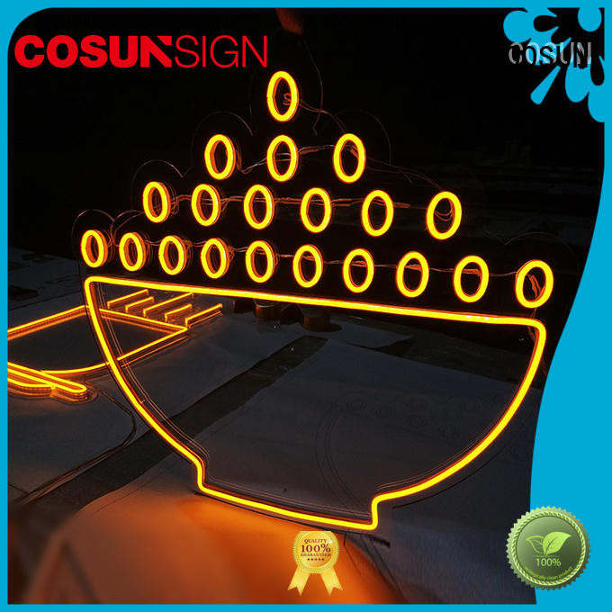 COSUN eye-catching neon letters for sale Supply for decoration