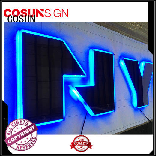 COSUN plastic acrylic engraved wall sign Suppliers for shop