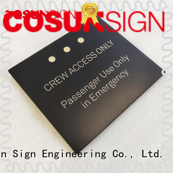 Cosun Customized Aluminum Metal Plates Logo
