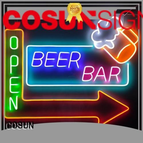 COSUN Custom plastic signs for business for hotel