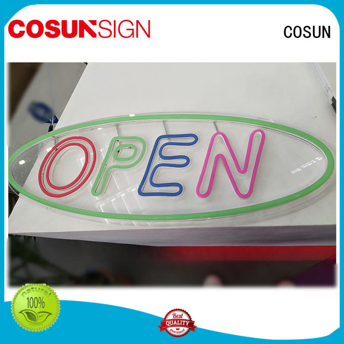 COSUN Best neon letter lights for sale company for restaurant