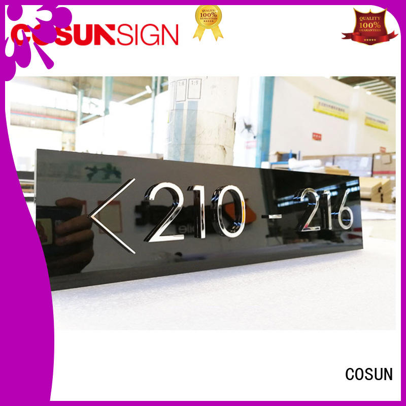 COSUN logo custom office door Suppliers for toilet signage