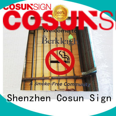 COSUN Stainles Steel Warning Sign Polishing