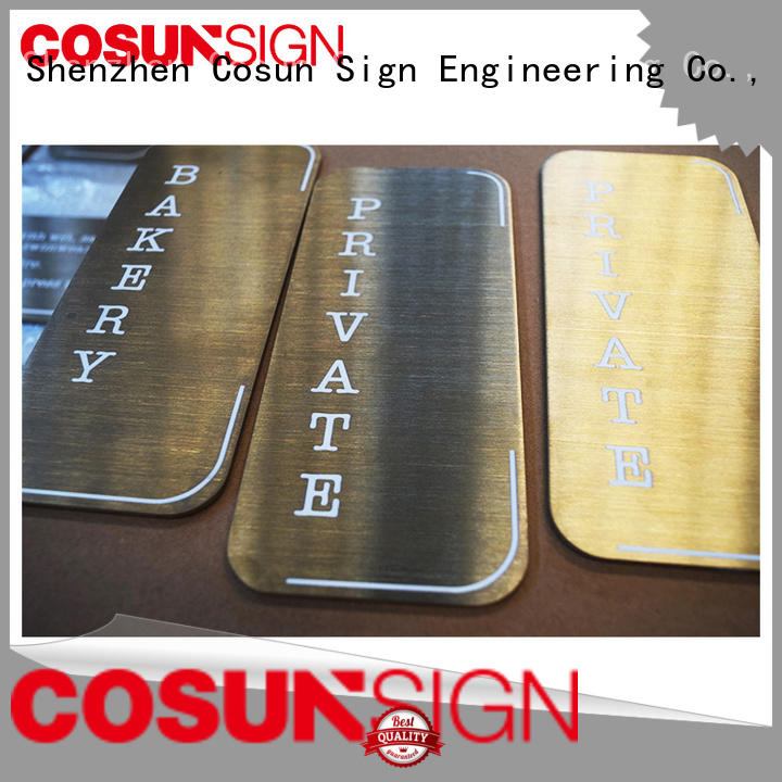 COSUN frame thermoforming sign cnc aluminum for hotel
