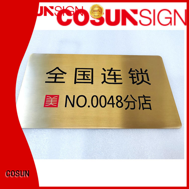 COSUN Top door plaques and signs company for toilet signage