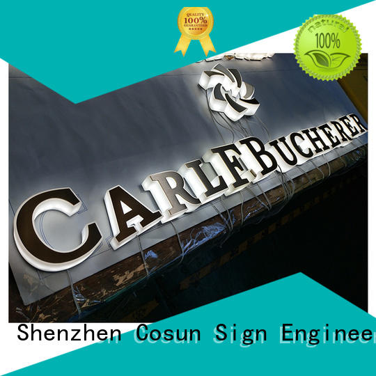 COSUN New acrylic sheet signage wholesale inquire now