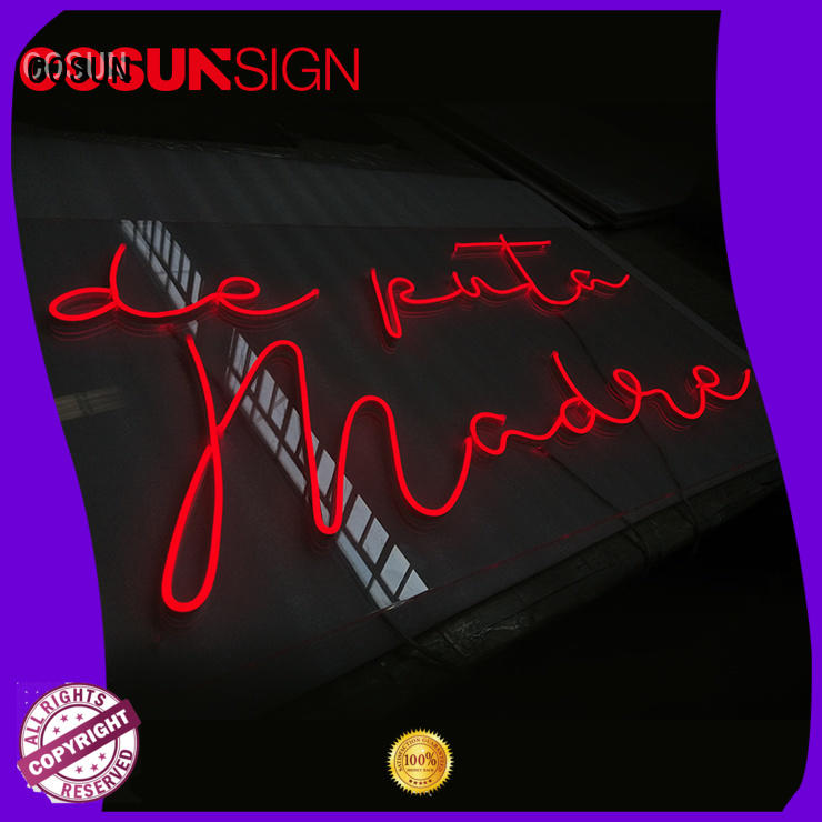 COSUN popular neon sign art for business for warning