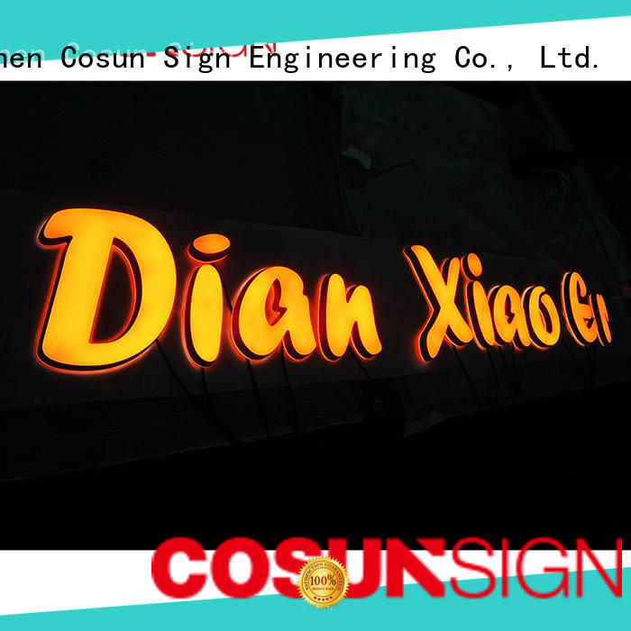 COSUN Best office reception signage factory inquire now