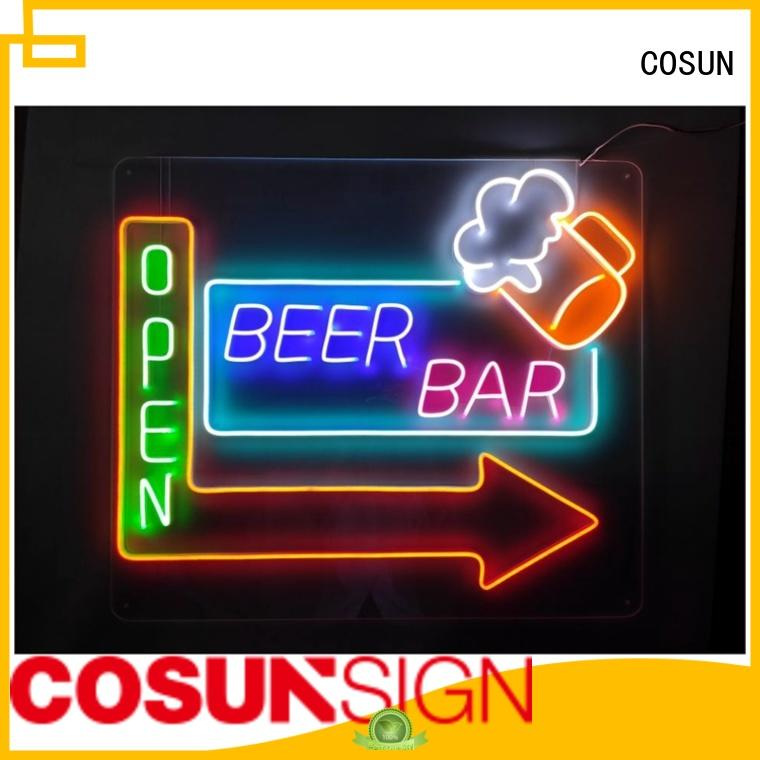 COSUN on-sale indoor led signs factory for decoration