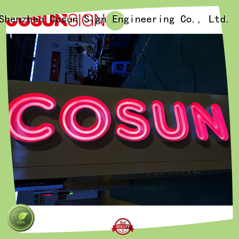 COSUN New red neon bar sign Supply for hotel