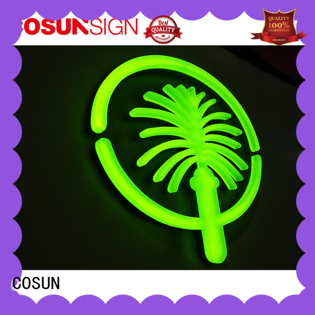 COSUN Top neon house number signs manufacturers for decoration