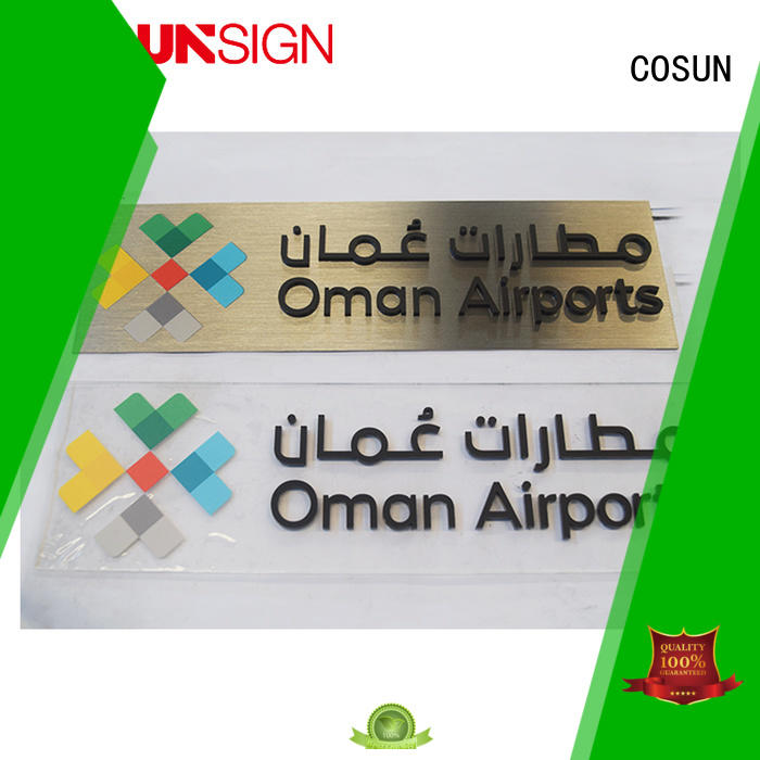 thermoforming sign all size for hotel COSUN