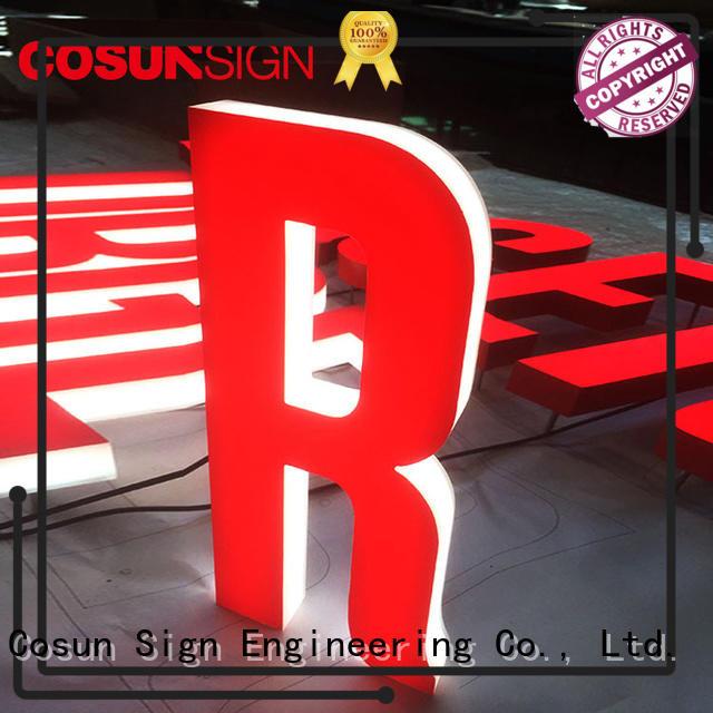 COSUN clear letter slanted sign holder for business for restaurant
