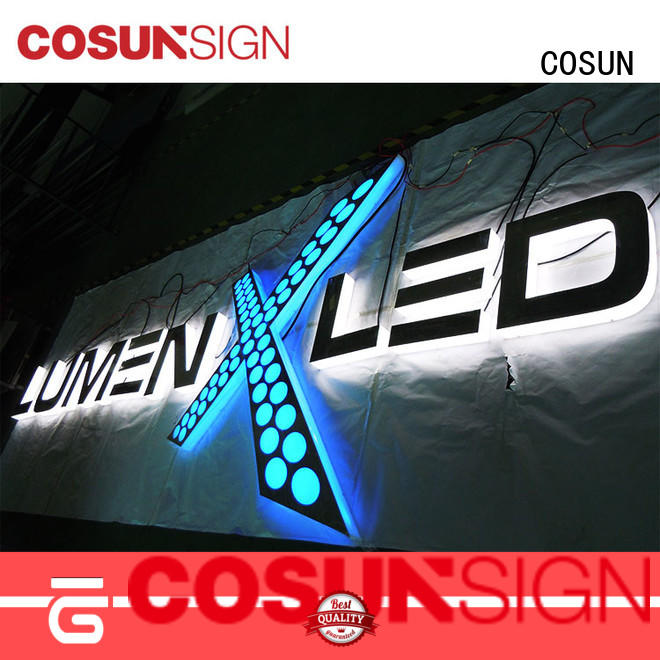 COSUN led base sign easels holders Supply for shop