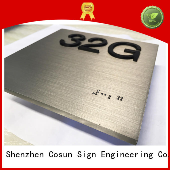 COSUN stainless steel 3d signs Supply for bar