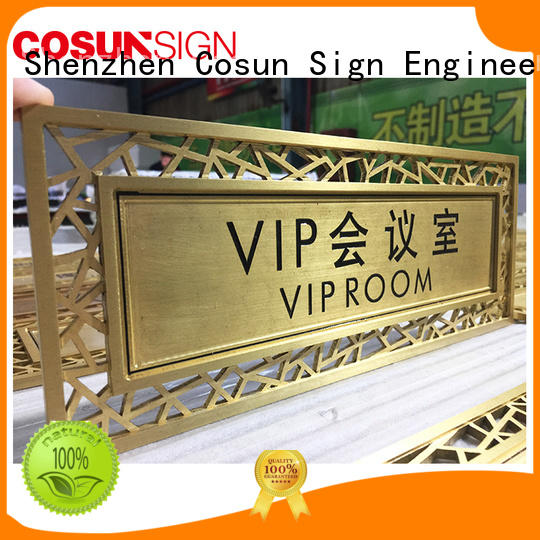 COSUN acrylic custom engraved signs company for warning