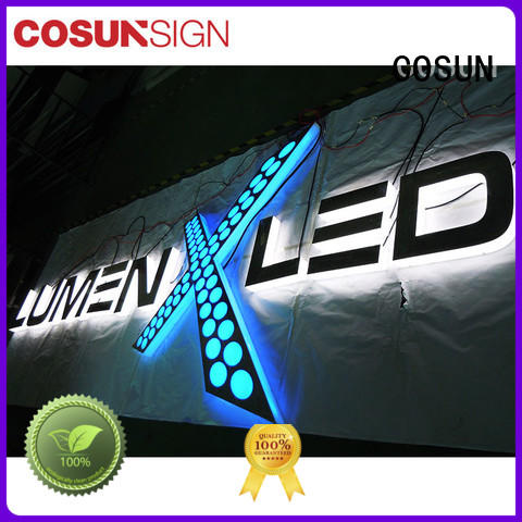 COSUN competitive price mounted sign holder manufacturers for restaurant