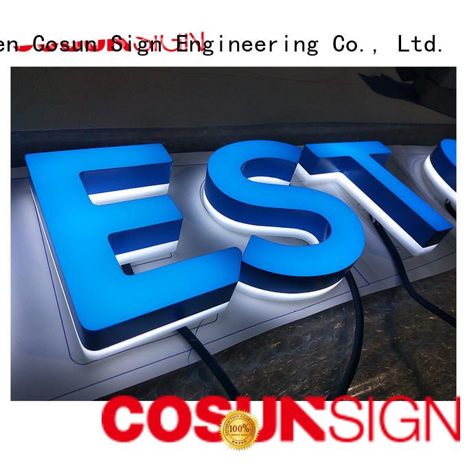 High-quality commercial signs clear letter for shop