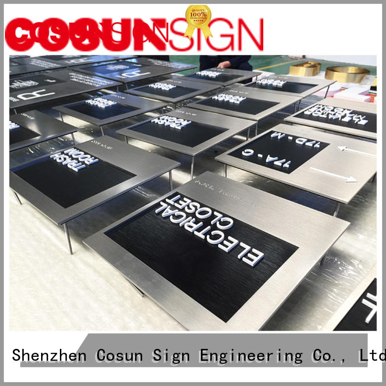 COSUN Top in out sign for office door manufacturers for wholesale