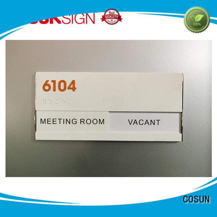 COSUN cnc aluminum business office signs manufacturers for decoration
