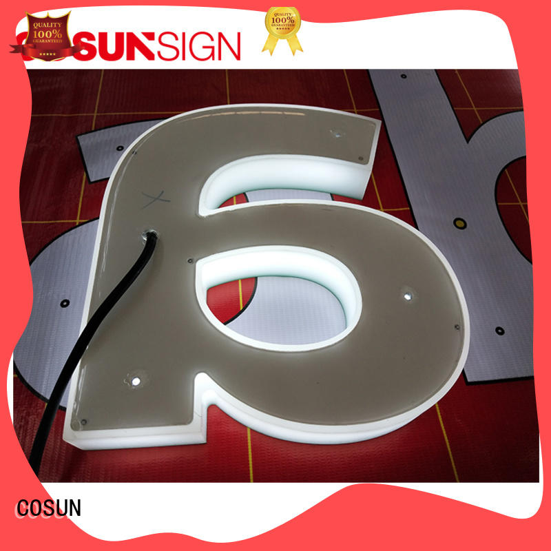 COSUN High-quality sign letters new for pub club