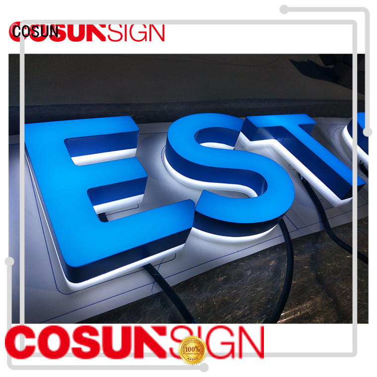 COSUN Latest clear acrylic sign on-sale for shop