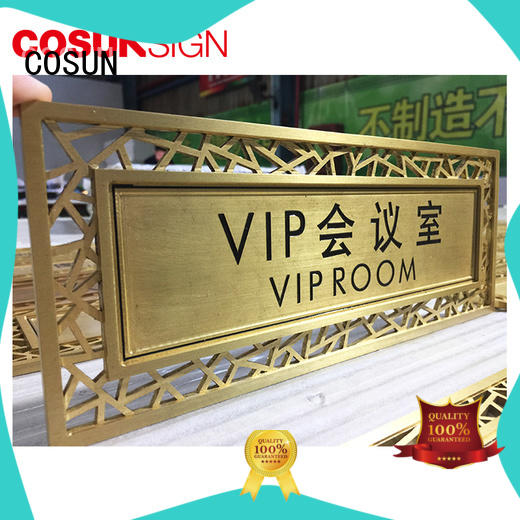COSUN all size door labels and signs company for door