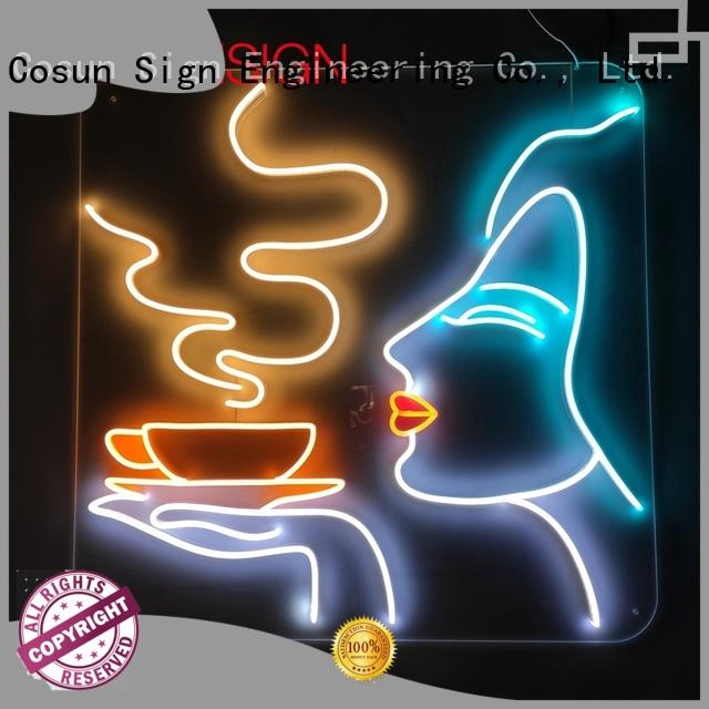 COSUN Top custom lighted bar signs Suppliers for hotel