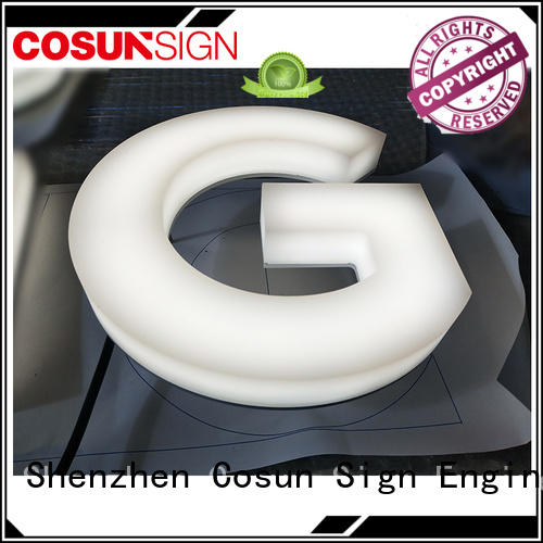 COSUN clear letter suction cup sign holder wholesale for shop