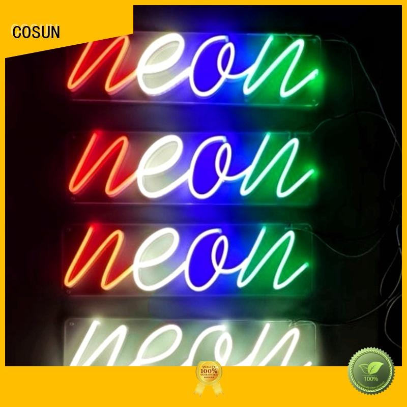 COSUN Wholesale personalised neon signs factory for house