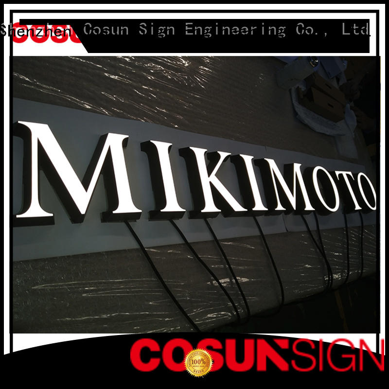 COSUN high-quality illuminated acrylic signs company for pub club