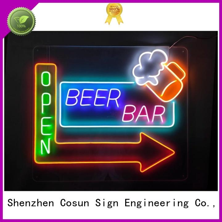 COSUN Best neon sign quotes manufacturers for hotel