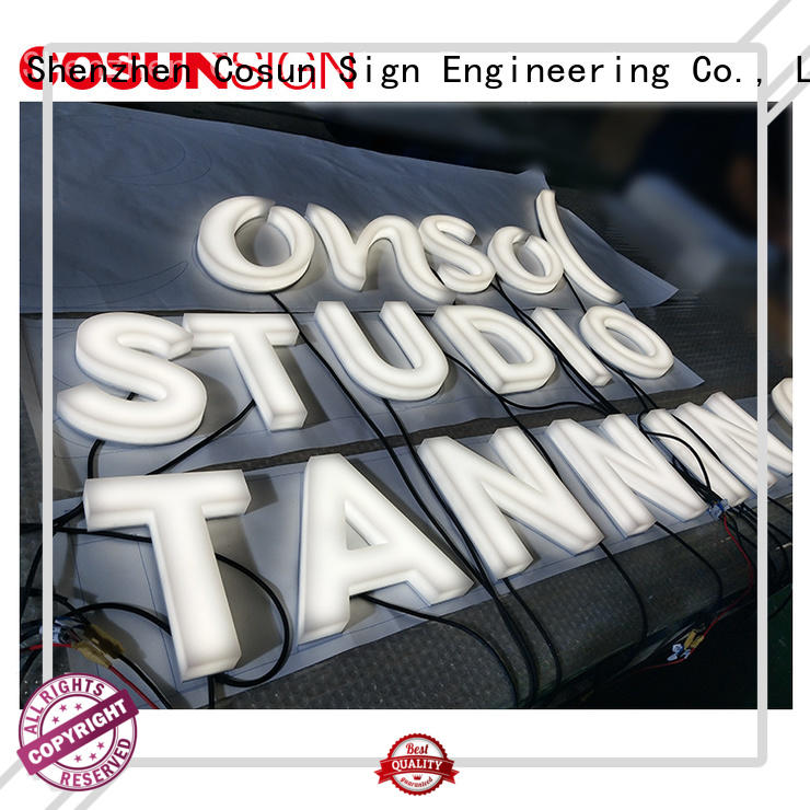 COSUN Custom pigtail sign holder for shop