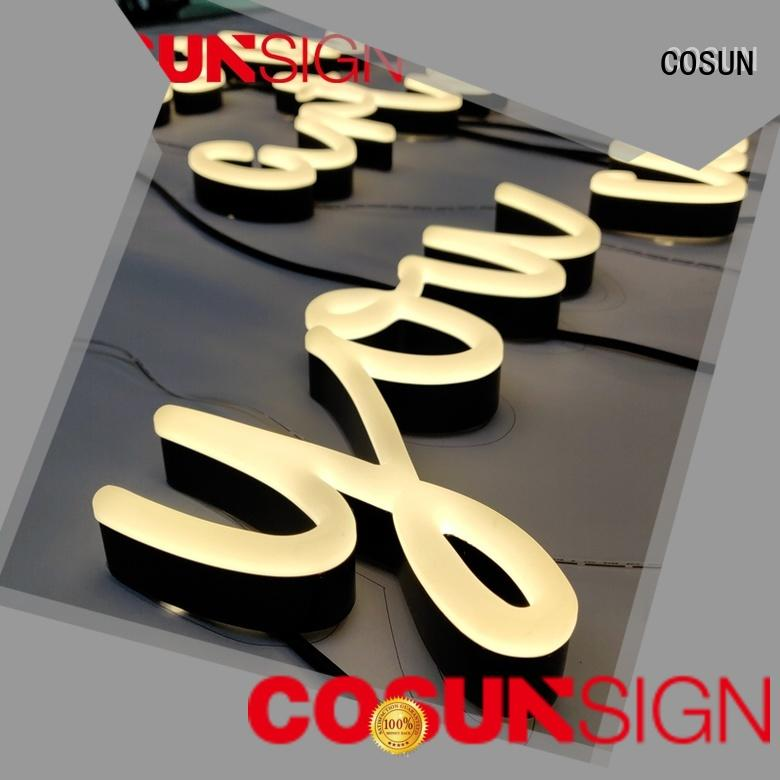 COSUN eye-catching personalized led sign Suppliers for restaurant